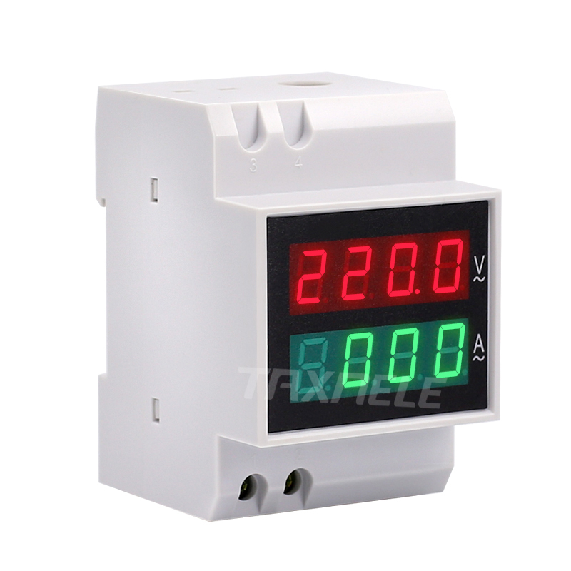Din Rail 4 Digital Voltage Current Meter