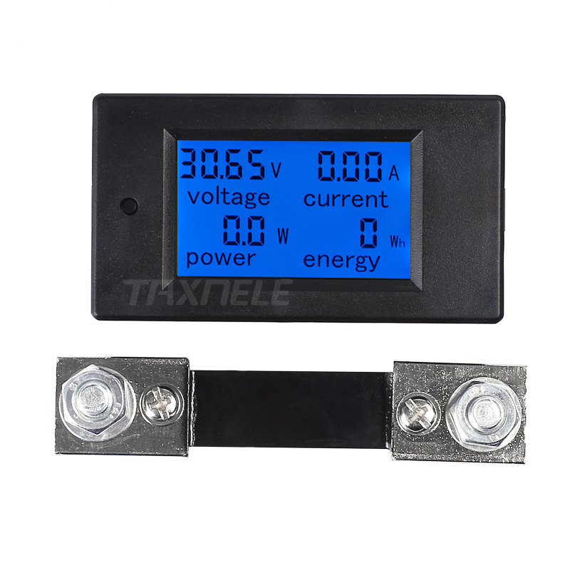 DC Digital LCD Voltage Current Power Energy Meters